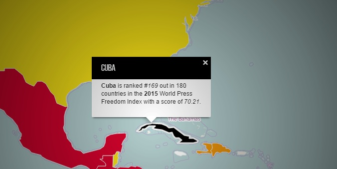 Cuba scrapes the bottom on 2015 World Press Freedom Index