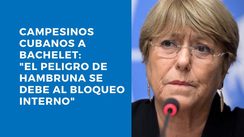 CAMPESINOS CUBANOS A BACHELET: «EL PELIGRO DE UNA HAMBRUNA SE DEBE AL BLOQUEO INTERNO»